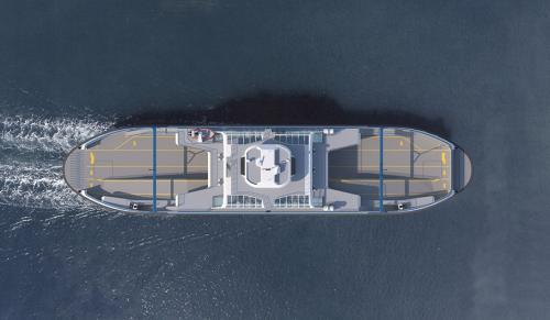 Ferry-boat Island Class - vedere de sus